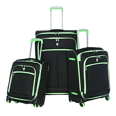 Olympia O-Tron 3Pc Luggage Set, Lime, One Size