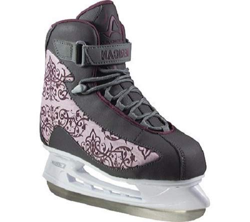 - American Athletic Shoe Co.Women's American Soft Boot hockey Skate , Grey, 7 (Style may vary)