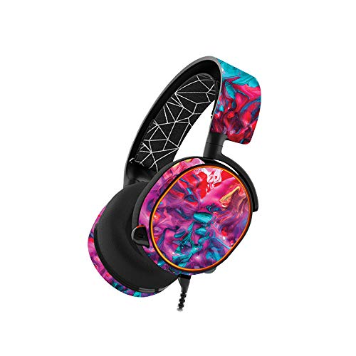 MightySkins Skin Compatible with SteelSeries Arctis 5 Gaming Headset - Paint Party | Protective, Durable, and Unique Vinyl wrap Cover | Easy to Apply, Remove, and Change Styles | Made in The USA