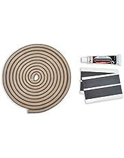 Chimenea Junta de cordón hueca Juego Incluye: Pegamento & abbinder apto para Justus y Oranier Chimenea 3m, 9,5mm de diámetro