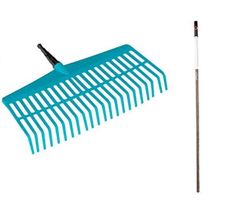 Gardena 3020-23 Combisystem Lawn Rake Assortment, Blue, Working Width 43 cm 03020-23