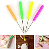 Junshion 4 Pcs Scriber Needle Modelling Tool Icing Sugarcraft Cake Decorating Fondant Syrup for Home Tools