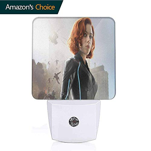 OriginalSun LED Night Light with Dusk-to-Dawn Sensor for Bedroom Black Widow in Avengers Age of Ultron