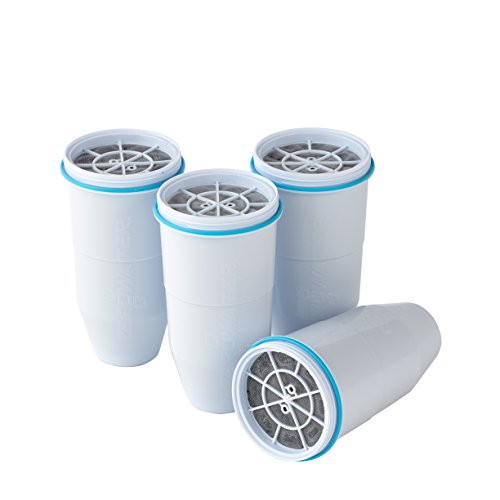Metal Water - ZeroWater ZR-006 Replacement Filters 4-Pack, BPA-Free Replacement Water Filters for ZeroWater Pitchers and Dispensers, NSF Certified to Reduce Lead and Other Heavy Metals