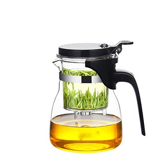 Glass Tea Set Elegant Cup Teapot Office Flower Teapot Heat-Resistant Filter Pot Household Single Bubble Pot Tea Pots (Size : F)