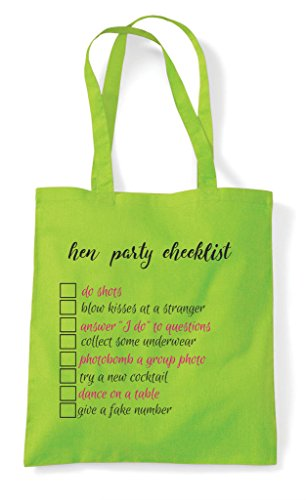 Party Checklist Cheeky Hen Own Your Customised Light Tote Personalised Bag Pink Do Shopper Add Dares StwwdrqE
