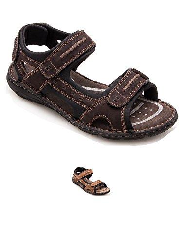 ed73b895abaf4 Zerimar Sandales En Cuir Pour Les Hommes Trekking Sandales Randonnée  Sandales Couleur Brown Taille 45