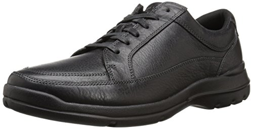 Rockport Men's City Play Two Lace To Toe Oxford- Black-10 - Men Eureka Shoes Leather Casual