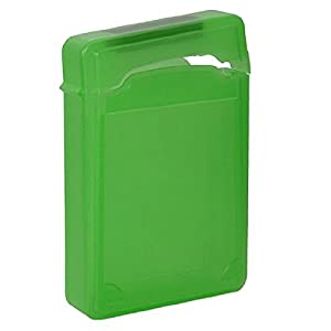 storage box - SODIAL(R)3.5 Inch IDE SATA HDD Hard Drive Storage Box Protective Case - Green