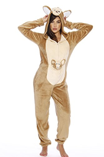 6307-M Just Love Adult Onesie / Pajamas,Kangaroo,Medium