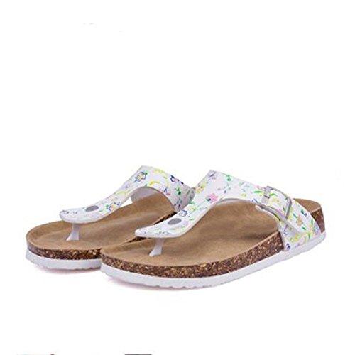 yamifan  's string plate sandale plate string - forme avec bouchon semelle sole panachée et microfibre 2e564a