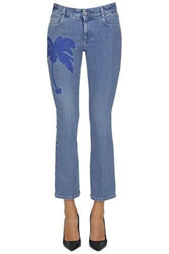 Stella Mccartney Jeans Donna MCGLDNM03020E Cotone Azzurro