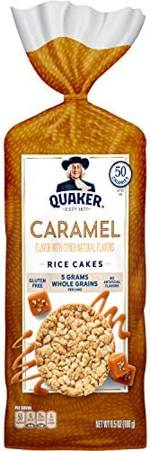 Quaker Rice Cakes, Caramel Corn, 6.56 Ounce