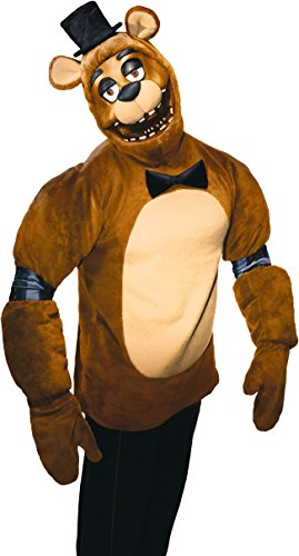 Rubie's Men's Five Nights Adult Freddy Costume, Multi, (Top Five Halloween Costumes)