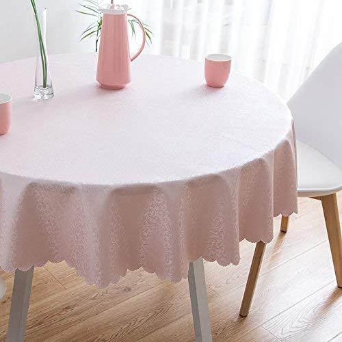 Shuangdeng テーブルクロス、ピンクプリントラウンドテーブルクロスユニークなパーティーディナーテーブル、防水アンチオイル高温耐性、レストランに最適、カフェ、ホテル、ヨーロピアンスタイル (サイズ : Rond-220cm) Rond-220cm  B07S6LBNH9