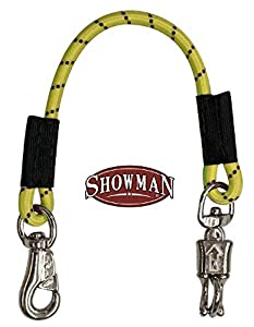 "Showman 24"" Yellow Bungee Trailer Tie With Quick Release Panic Snap And Heavy Duty Bull Snap"