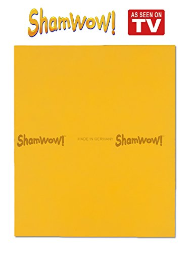 The Original Shamwow - Super Absorbent Multi-Purpose Cleaning Shammy (Chamois) Towel Cloth, Machine Washable, Will Not Scratch, (Shamwow Towels)