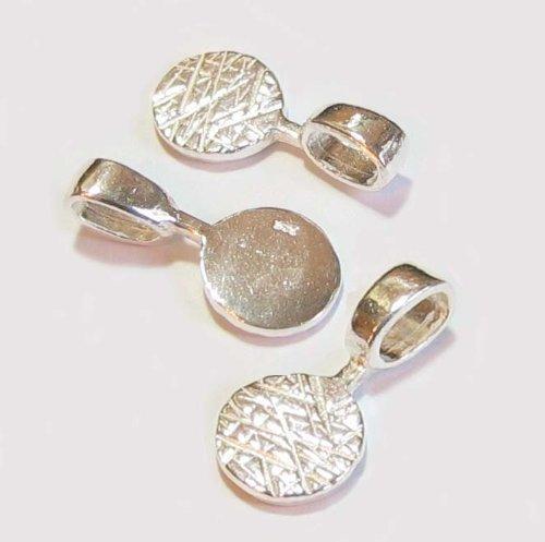 [해외]매달려 드롭 펜던트 보석 보석 발견에 2 배 스털링 실버 접착제/2x Sterling Silver Glue On Dangle Drop Pendant Bail   Findings  Bright