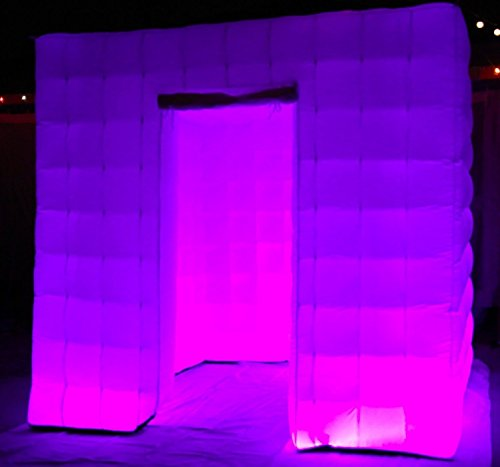 Inflatable Photo Booth Enclosure with LED Changing Lights by ibigbean