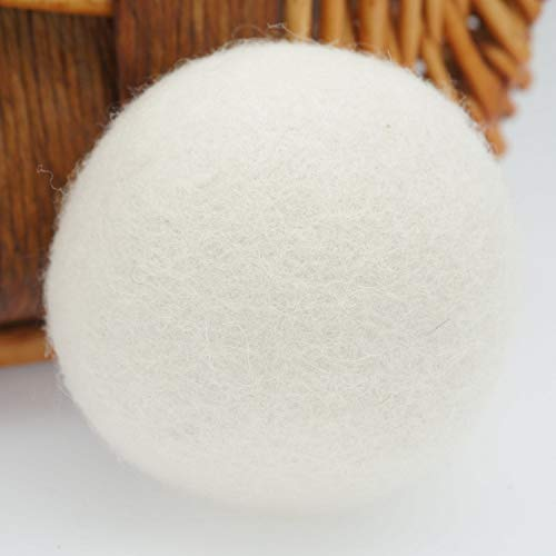 Woolous Wool Dryer Balls, Natural Reusable Washable Felted New Zealand Handmade 6 XL Tumble Organic Sheep Wool Laundry Dryer Balls-Alternative to Dryer Sheets, Reduce Wrinkles and Drying Time