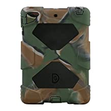 iPad Mini Case, ACEGUARDER iPad Mini 2 Case,iPad Mini 3 Case Full Body Protective Rugged Rain proof Shockproof Impact Resistant Anti Slip Cover with Kickstand for Apple iPad Mini 1 2 3 (Army/Black)