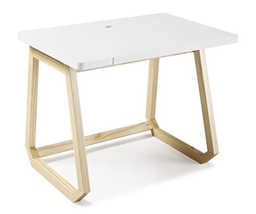 Hush Computer Desk 1041-33 by Palace Imports, White Color, with Solid Wood Frame and Pull-Out MDF Top by Palace Imports