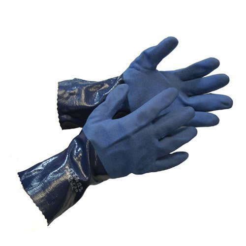 Atlas 720 Dipped-Nitrile Blue Chemical Resistant Small Work Gloves, 12-Pairs by ATLAS (Image #2)