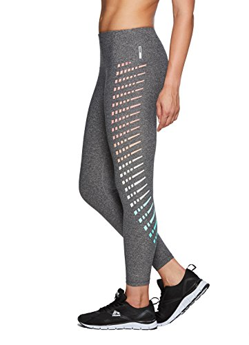 RBX Active Women's Workout Yoga 7/8 Legging With Side Detail Charcoal XL