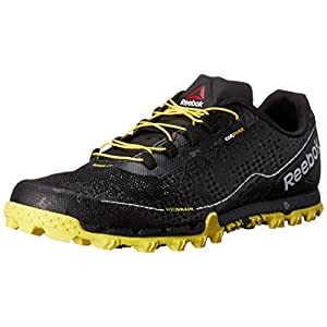 Reebok Men's All Terrain Super Or Running Shoe, Black/White/Yellow Spark/Coal, 7.5 M US