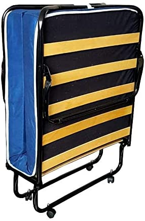 Totò Piccinni - Cama plegable con colchón individual de 10 cm de grosor, cómoda y robusta