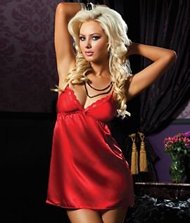 Seven Til Midnight Flawless Chemise Red Large
