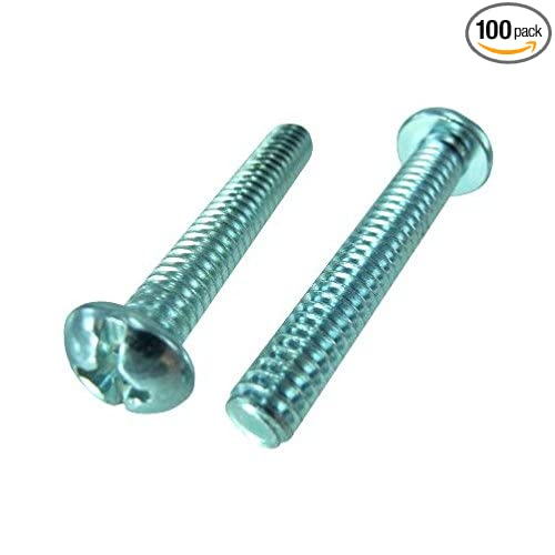 100-Pack The Hillman Group 101033 6-32-Inch x 1//2-Inch Flat Head Phillips Machine Screw
