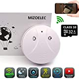 2018 Upgrade Smoke Detector Spy Camera WiFi HD 1080P Hidden Camera(32GB Included) Home Mini Nanny Cam Home Security Camera Wall Mount Motion Detection Mini Video Recorder iOS Android Free APP
