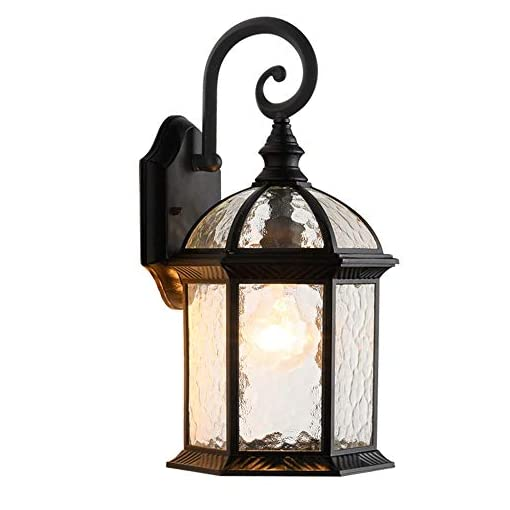 Garden and Outdoor LONEDRUID Outdoor Wall Light Fixtures Black 15.35″H Exterior Wall Lantern Waterproof Sconce Porch Lights Wall Mount for House, UL Listed outdoor lighting