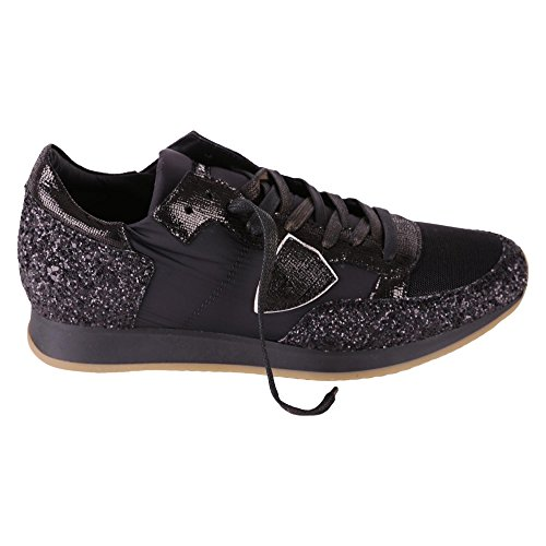 Philippe Model Sneaker Tropez In Camoscio E Nylon Trld Schwarz