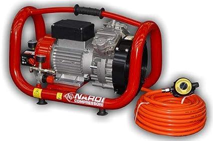 NARDI Extreme 3T Compresor eléctrico 230 V 50 pies Manguera Sistema de Hookah Buceo Tercer pulmón