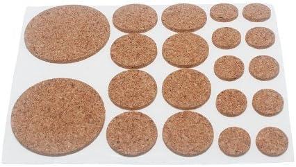 6 Blatt sortiert Korkpl/ättchen selbstklebend 20 pro Blatt 2 mm dick
