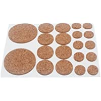 ASSORTED CORK PADS SELF ADHESIVE 20 PER SHEET 2MM THICK (2 sheet)
