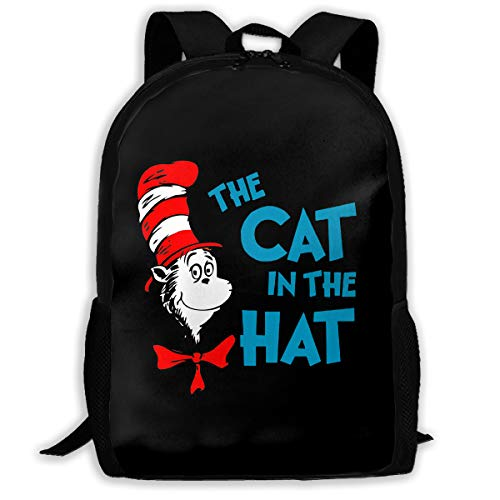 Backpack, Travel Hiking The Cat In The Hat Backpacks Cute Fashion Heavy Duty Large Camping Gym Shoulder Bag Outdoor Backpacks For Men Women Adults