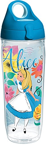 Tervis 1269232 Disney Alice In Wonderland Insulated Tumbler with Lid, 24 oz Water Bottle, Clear