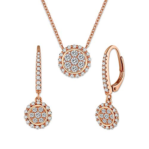 GEORGE · SMITH Wedding Necklaces and Earrings Set for Bride Bridesmaids Rose Gold Jewelry Sets Wedding Gifts for Women