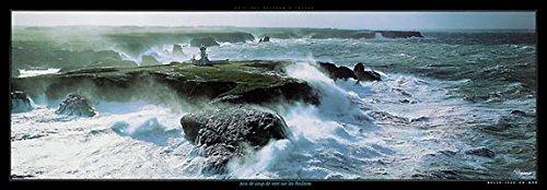 - Coup de Vent sur les Poulains Plisson Ocean Lighthouses France Poster 59x20.5
