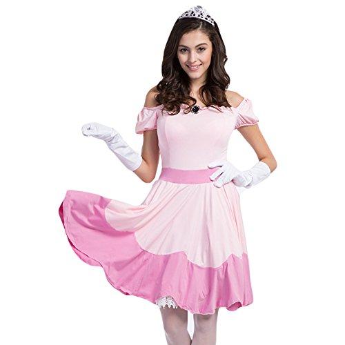Charming Alice Adult Costume (Hallowmax Hallowmax's Halloween Costumes Alice Princess Pink Dress Uniform Adult Cosplay Suit)