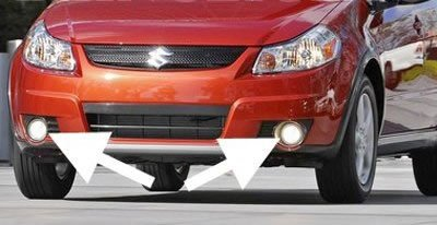 amazon com 2006 2011 suzuki sx4 crossover fog lights driving amazon com 2006 2011 suzuki sx4 crossover fog lights driving lamps 07 automotive