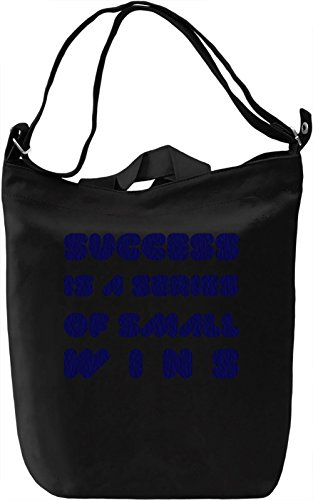 Success Steps Borsa Giornaliera Canvas Canvas Day Bag| 100% Premium Cotton Canvas| DTG Printing|