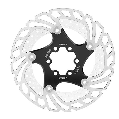 (Dewin Bicycle disc Brake Rotor Bicycle disc Rotor, Mountain Bike, Light Weight, 160 mm, Aluminum Alloy (Color : Black))