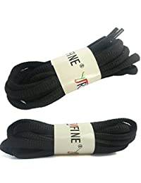"""YJRVFINE 2 Pair Oval Shoelaces for Running Shoe Sports Shoes Sneakers Half Round 1/4"""" Shoe Laces"""