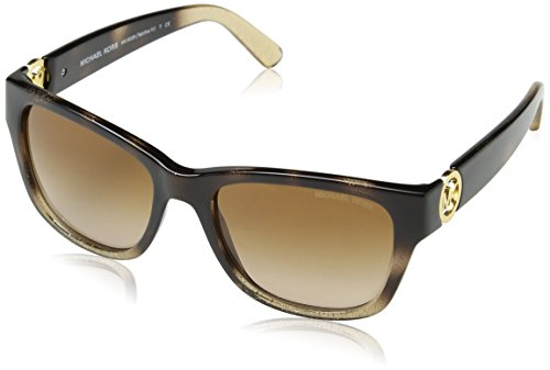 Michael Kors TABITHA IV MK6028 Sunglasses 309613-54 - Tortoise Gradient Glitter Frame, - Tortoise Sunglasses Michael Kors
