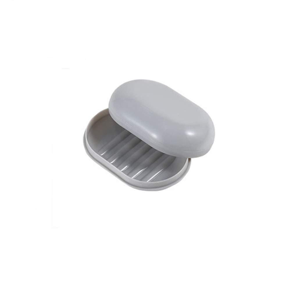 Polipropileno Jabonera con Tapa higi/énica Ganquer rect/ángulo Gris