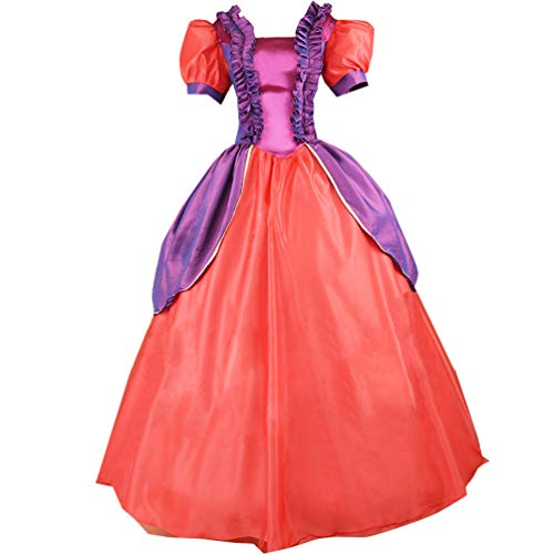 Adult Evil Step Sister Cosplay Costume Court Dress Halloween (S) Red]()